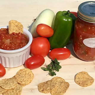 The Best Ever Cooked Salsa for Canning.