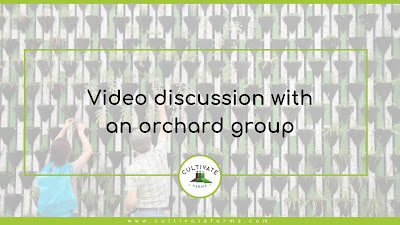 Video discussion with an orchard group