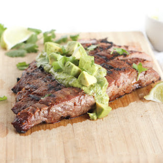 Simple Carne Asada With Avocado Chimichurri.
