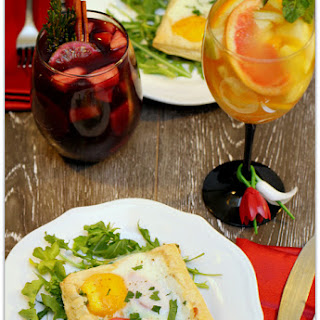 Egg, Chicken and Veggie Tartlets with Sexy Sangrias