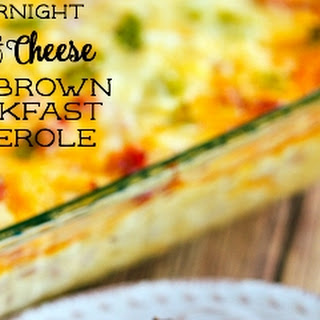 Overnight Ham and Cheese Hashbrown Breakfast Casserole