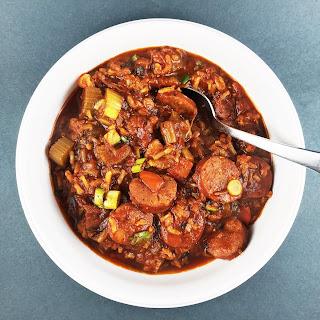 Cajun Jambalaya with Andouille and Chicken (from Jon Besh).