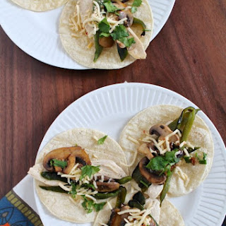 Chicken and Rajas Tacos.