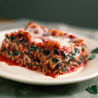 Low Calorie Spinach Lasagna.