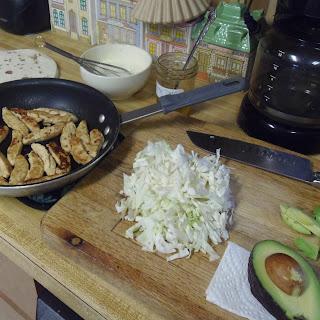 Chick'n Tacos (vegan)