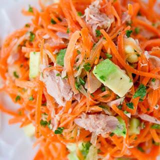 Carrot, Tuna, and Avocado Salad