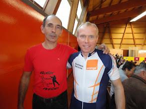 Photo: Bertrand et Charles à la fin de la journée, juste avant la cérémonie des podiums.