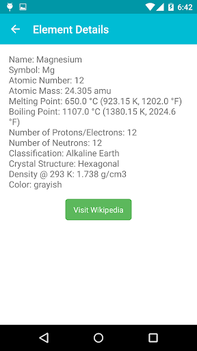periodic table screenshot 4