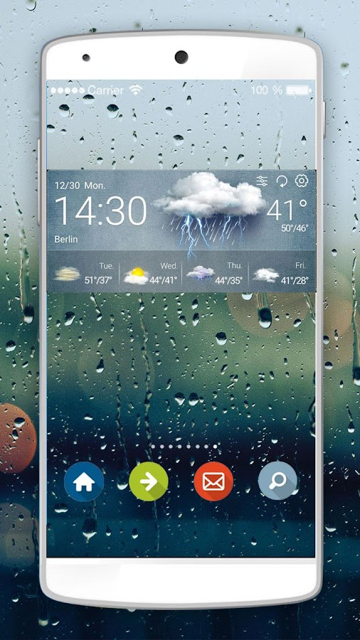 Weather Forecast &Clock Widget- screenshot