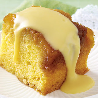 Pineapple Cake with Coconut Custard.
