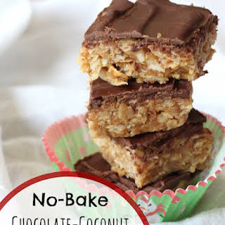 No-Bake Chocolate-Coconut Peanut Butter Bars.