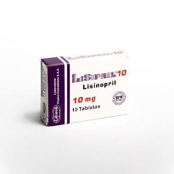Lisipril 10mg Tableta Caja