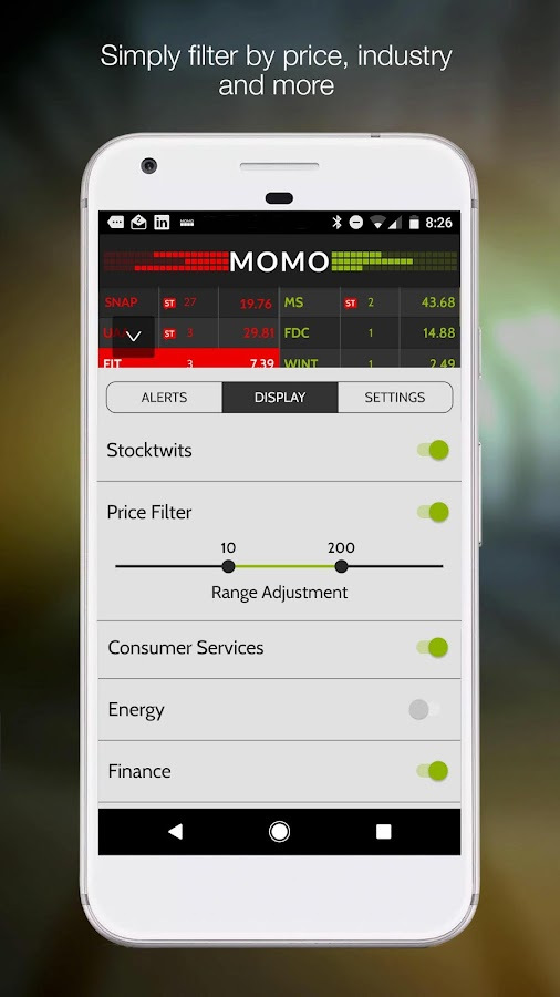 MOMO Realtime Stock Discovery- screenshot