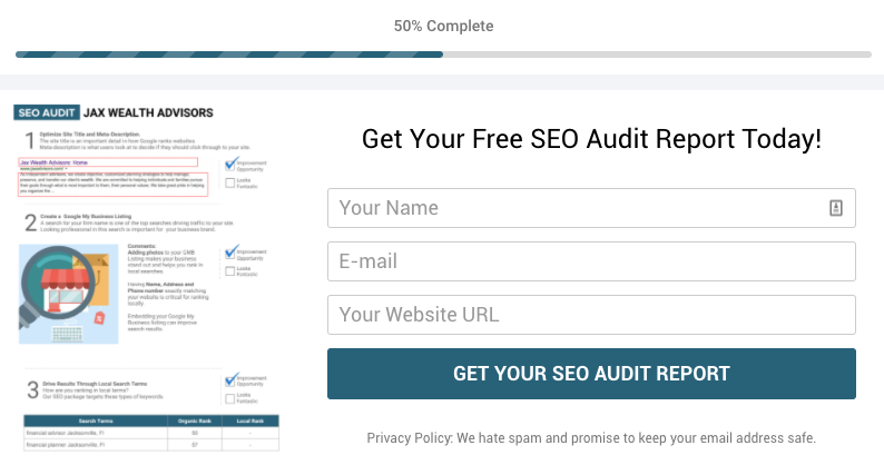 Get Your Free SEO Audit Report