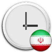 Iran Clock & RSS Widget