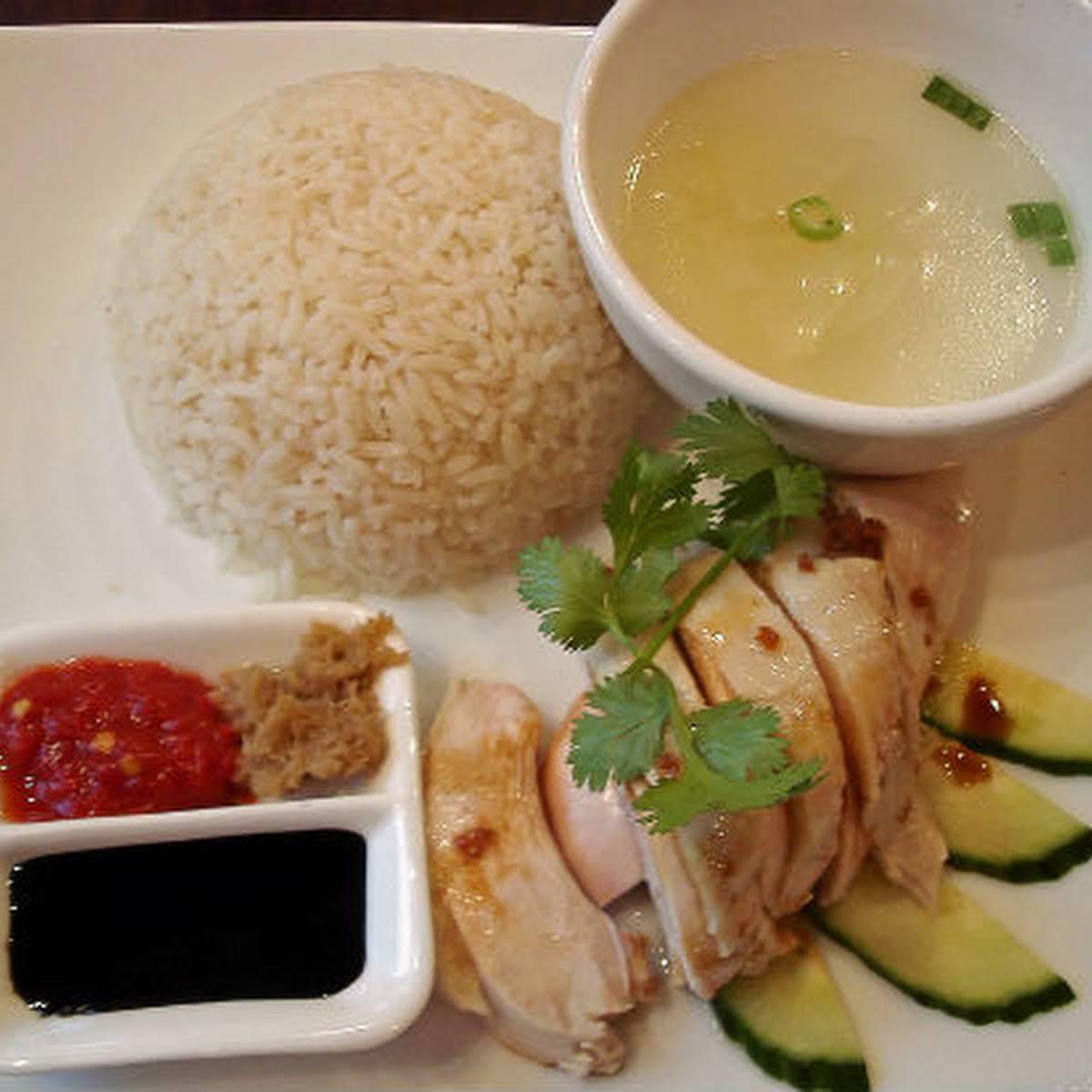 Hainanese Chicken Rice (Singapore Chicken Rice)