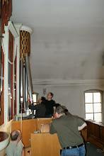 Photo: Ausbau der Orgelpfeifen