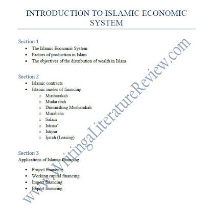 Sample Of Literature Review Outline Apa