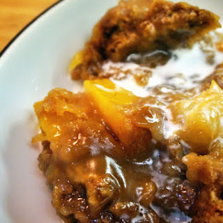 Dutch Oven Peach Mango Cobbler