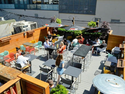 District Eatery rooftop patio