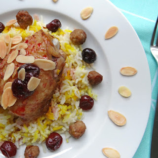 Iranian Albalu Polo (sour Cherry Rice)