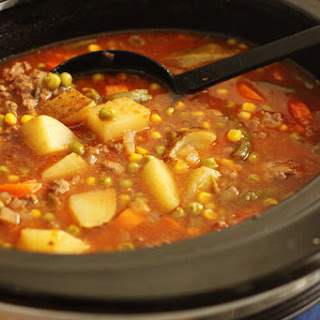 Crock Pot Beef Vegetable Soup.
