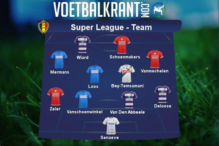Ons team van de speeldag in de Super League: Anderlecht, Genk en Standard met drie speelsters, ook eentje van Leuven en Heist