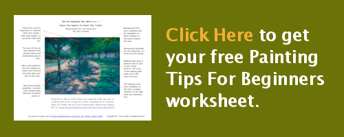 Click here to download your free Painting Tips For Beginners worksheet.