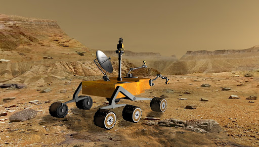 Mars Science Laboratory at Canyon Artist Concept