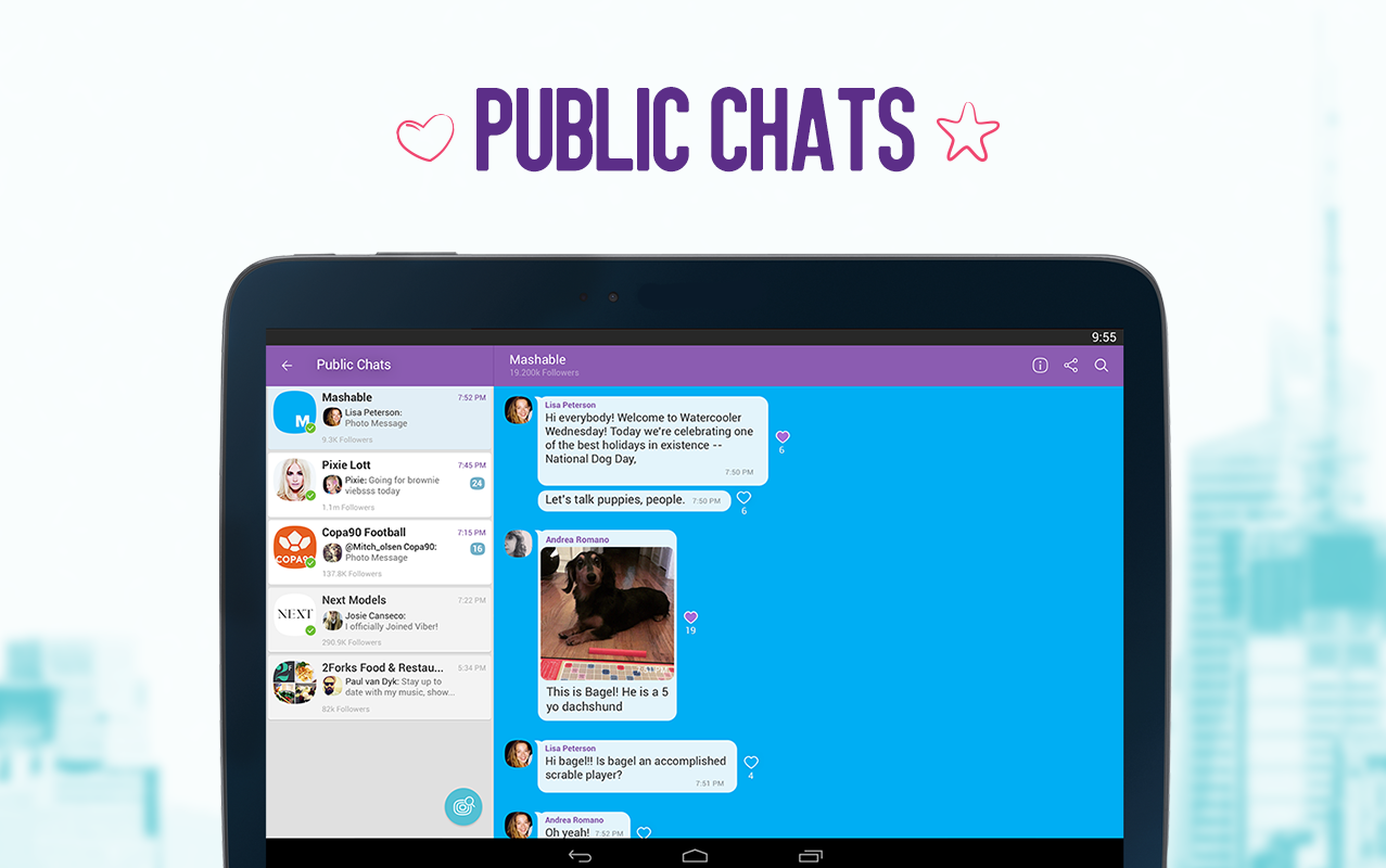 Screenshots of Viber for Android