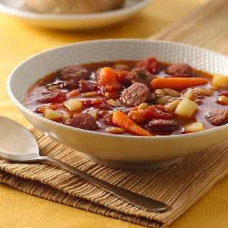 Bratwurst and Vegetable Soup.