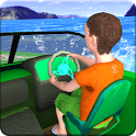 Kids Water Taxi Boat Ride Simulator : Stunts Arena icon