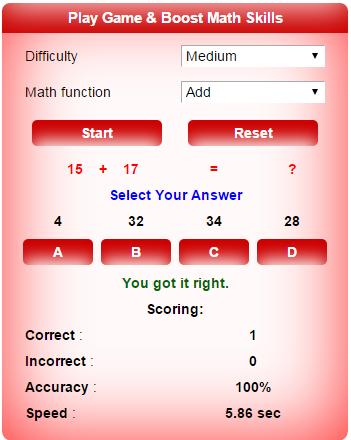 Math Skill Test