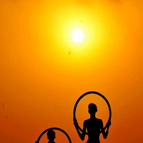 Ringing Boys by Suman Rakshit - Babies & Children Children Candids