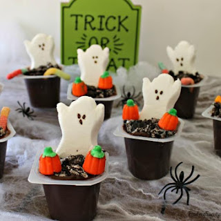 Pudding Graveyard Cups #Halloween