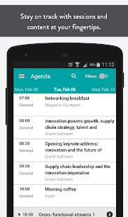 SCM World Events App - náhled