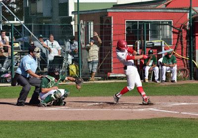 Borgerhout Squirrels grijpen naast historische triple in het baseball