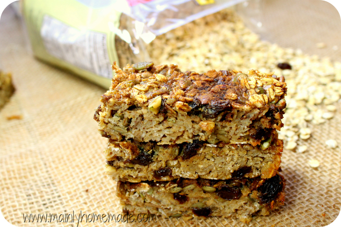 Nut Free Dairy Free and Gluten Free Oatmeal Bars Recipe