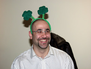 Photo: Georges Maamari celebrating St. Patrick's Day in style