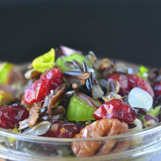 Wild Rice Salad with Cranberries and Nuts