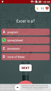 Free Microsoft Excel Test Quiz 3