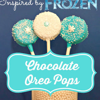 Disney Frozen Inspired Oreos Pops