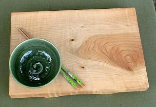 Photo: curly maple sushi server