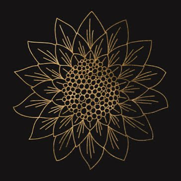 Gold Sunflower - Etsy Shop Icon Template