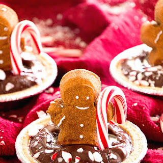 Gingerbread PEEPS Mint Chocolate Pudding Pies