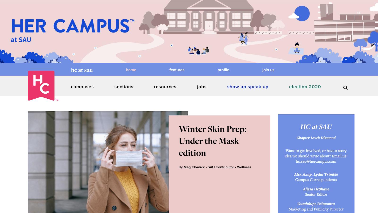 Her Campus at SAU's website.