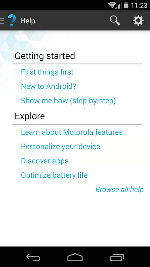 Motorola Help- screenshot