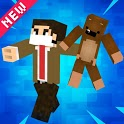 Skins+Addon+Map&Shader Mr.Bean For MCPE 2021 icon