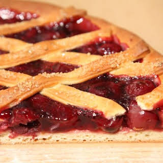 A Very Cherry Pie with Bread Dough.