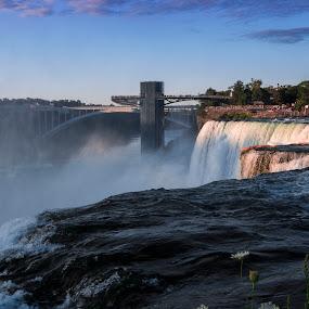 Niagara by Ralph Sobanski - Landscapes Waterscapes ( falls, niagara, new york, bridge, river )